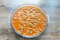 Фото приготовления рецепта: Макароны по-флотски, с мясным фаршем и сыром (в духовке) - шаг №15