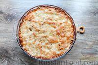 Фото приготовления рецепта: Макароны по-флотски, с мясным фаршем и сыром (в духовке) - шаг №18