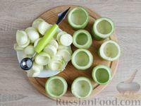 Фото приготовления рецепта: Грибной жюльен в кабачках - шаг №3