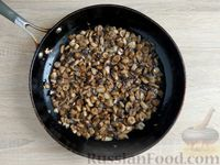 Фото приготовления рецепта: Грибной жюльен в кабачках - шаг №8