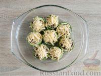 Фото приготовления рецепта: Грибной жюльен в кабачках - шаг №16