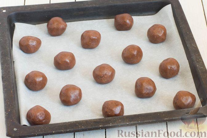 Кофейно-шоколадное печенье. Ингредиенты: сливочное масло, сахар ... | 449x673