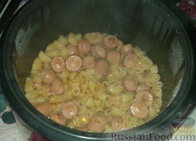 макароны с сосиской рецепт с фото