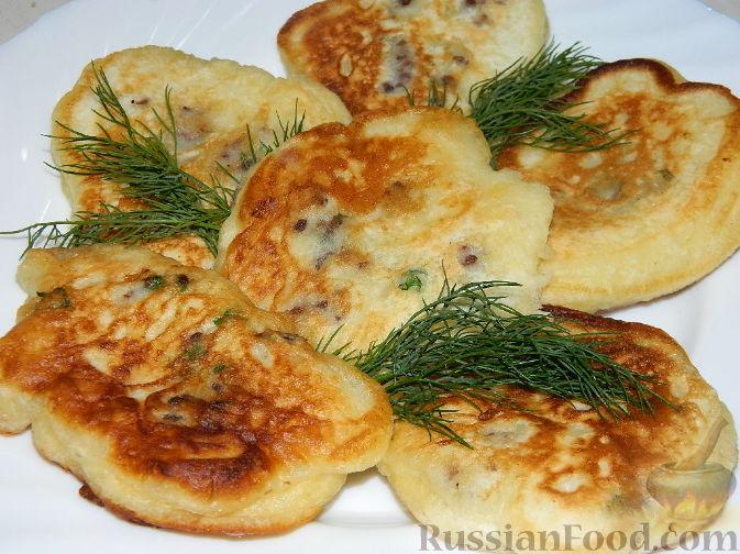 Оладьи на кефире с фаршем пышные - рецепт с фото пошагово 12