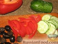 """Фото приготовления рецепта: Закуска из баклажанов """"Павлиний хвост"""" - шаг №6"""