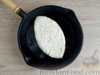 Фото приготовления рецепта: Ленивый творожный хачапури по-аджарски (на сковороде) - шаг №10