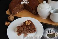 Фото приготовления рецепта: Шоколадный манник с орехами (в мультиварке) - шаг №13