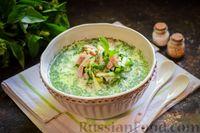 Фото к рецепту: Окрошка на сыворотке, с ветчиной, картофелем и огурцами