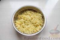 Фото приготовления рецепта: Картофельные кнели с ветчиной и сыром, со сливочно-сырным соусом - шаг №2