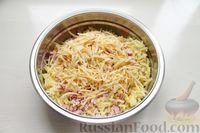 Фото приготовления рецепта: Картофельные кнели с ветчиной и сыром, со сливочно-сырным соусом - шаг №4