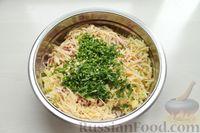 Фото приготовления рецепта: Картофельные кнели с ветчиной и сыром, со сливочно-сырным соусом - шаг №5