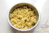 Фото приготовления рецепта: Картофельные кнели с ветчиной и сыром, со сливочно-сырным соусом - шаг №8