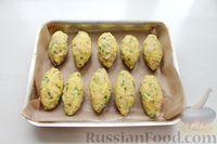 Фото приготовления рецепта: Картофельные кнели с ветчиной и сыром, со сливочно-сырным соусом - шаг №9