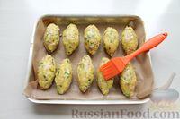 Фото приготовления рецепта: Картофельные кнели с ветчиной и сыром, со сливочно-сырным соусом - шаг №10