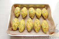Фото приготовления рецепта: Картофельные кнели с ветчиной и сыром, со сливочно-сырным соусом - шаг №11