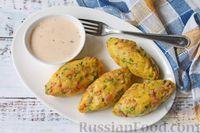 Фото приготовления рецепта: Картофельные кнели с ветчиной и сыром, со сливочно-сырным соусом - шаг №16