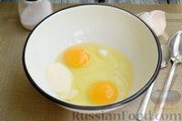 Фото приготовления рецепта: Творожная запеканка с манкой и вишней (без муки) - шаг №2