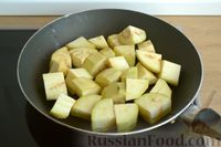 Фото приготовления рецепта: Рагу с курицей, баклажанами, картошкой и болгарским перцем - шаг №3