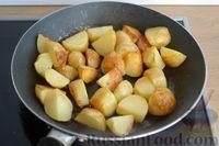 Фото приготовления рецепта: Рагу с курицей, баклажанами, картошкой и болгарским перцем - шаг №9