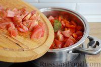 Фото приготовления рецепта: Рагу с курицей, баклажанами, картошкой и болгарским перцем - шаг №16
