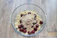 Фото приготовления рецепта: Песочное печенье с вишней, овсяными хлопьями, миндалём и шоколадом - шаг №13