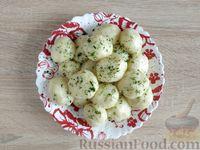 Фото приготовления рецепта: Картофельные клёцки с зеленью (без муки) - шаг №13