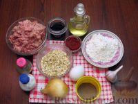 Фото приготовления рецепта: Мясные котлеты с овсяными хлопьями и соевым соусом - шаг №1