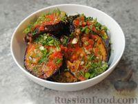 Фото к рецепту: Маринованные баклажаны в томатном соусе