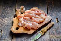 Фото приготовления рецепта: Овощное рагу с курицей, картофелем, кабачками и стручковой фасолью - шаг №3