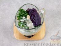 Фото приготовления рецепта: Холодный огуречный суп с йогуртом и кефиром - шаг №5