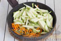 Фото приготовления рецепта: Кускус с кабачками, стручковой фасолью и вешенками - шаг №5
