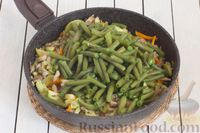 Фото приготовления рецепта: Кускус с кабачками, стручковой фасолью и вешенками - шаг №9