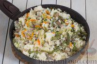 Фото приготовления рецепта: Кускус с кабачками, стручковой фасолью и вешенками - шаг №11