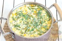 Фото приготовления рецепта: Овощной суп с цветной капустой, стручковой фасолью и адыгейским сыром - шаг №11