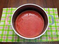 Фото приготовления рецепта: Томатный суп с вермишелью и зелёным луком - шаг №11