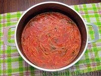 Фото приготовления рецепта: Томатный суп с вермишелью и зелёным луком - шаг №14