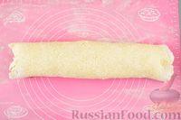Фото приготовления рецепта: Песочные творожные рулетики-улитки с ветчиной и сыром - шаг №13
