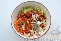Фото приготовления рецепта: Перец, фаршированный кабачками, тушенный со сметаной и зеленью - шаг №7