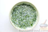 Фото приготовления рецепта: Перец, фаршированный кабачками, тушенный со сметаной и зеленью - шаг №12
