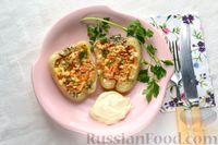 Фото приготовления рецепта: Перец, фаршированный кабачками, тушенный со сметаной и зеленью - шаг №15