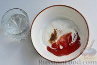 Фото приготовления рецепта: Кабачки с помидорами и фаршем, запеченные со сметаной и кетчупом - шаг №9