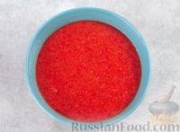Фото приготовления рецепта: Арбузный гаспачо с овощами, лаймом и имбирем - шаг №7