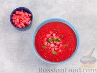 Фото приготовления рецепта: Арбузный гаспачо с овощами, лаймом и имбирем - шаг №8