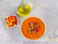 Фото приготовления рецепта: Гаспачо с дыней и овощами - шаг №10
