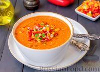 Фото приготовления рецепта: Гаспачо с дыней и овощами - шаг №11