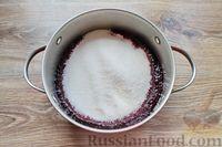Фото приготовления рецепта: Варенье из черники и чёрной смородины - шаг №5