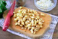 Фото приготовления рецепта: Лодочки из баклажанов с творогом и яичницей - шаг №4