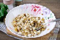 Фото приготовления рецепта: Лодочки из баклажанов с творогом и яичницей - шаг №7