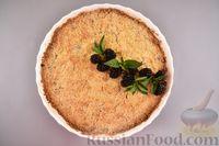 Фото приготовления рецепта: Насыпной пирог с ежевикой - шаг №11