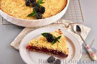 Фото приготовления рецепта: Насыпной пирог с ежевикой - шаг №12